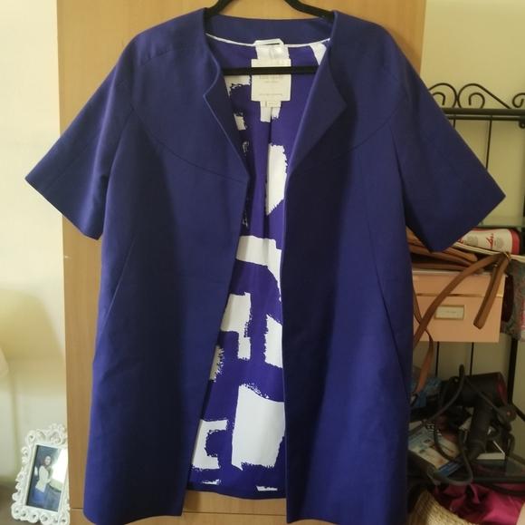 Kate Spade short sleeve blue jacket 4